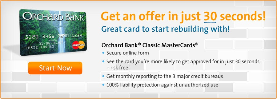 Orchard Bank Secured MasterCard