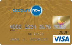 AccountNow Gold Visa Prepaid Card  credit card