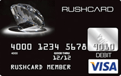 Black Diamond Prepaid Visa RushCard credit card