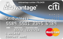 Citibusiness aadvantage world mastercard credit card for Www citibusinesscard com