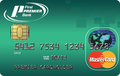 Card bank credit payment first online premier