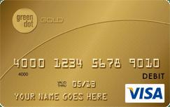 Green Dot Gold Prepaid Visa Card credit card