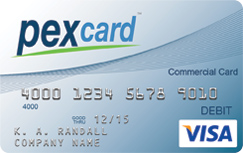 PEX Visa Prepaid Card For Business credit card