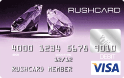 Purple Diamond Prepaid Visa RushCard credit card