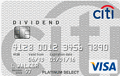 Citi? Dividend Platinum Select? Visa? Card